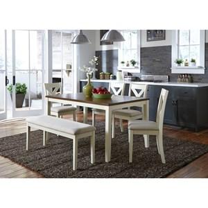 Liberty Furniture Thornton 6 Piece Rectangular Table Set
