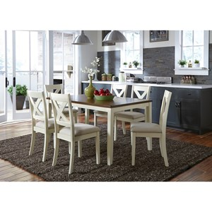 Liberty Furniture Thornton 7 Piece Rectangular Table Set