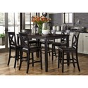 Liberty Furniture Thornton 7 Piece Gathering Table Set - Item Number: 464-CD-7GTS