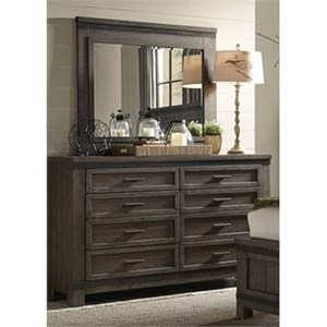 Liberty Furniture Thornwood Hills Dresser and Mirror