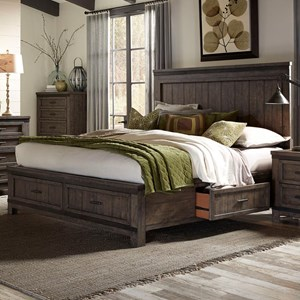 Liberty Furniture Thornwood Hills King Two Sided Storage Bed