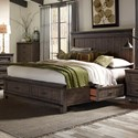 Liberty Furniture Thornwood Hills King Two Sided Storage Bed - Item Number: 759-BR-K2S