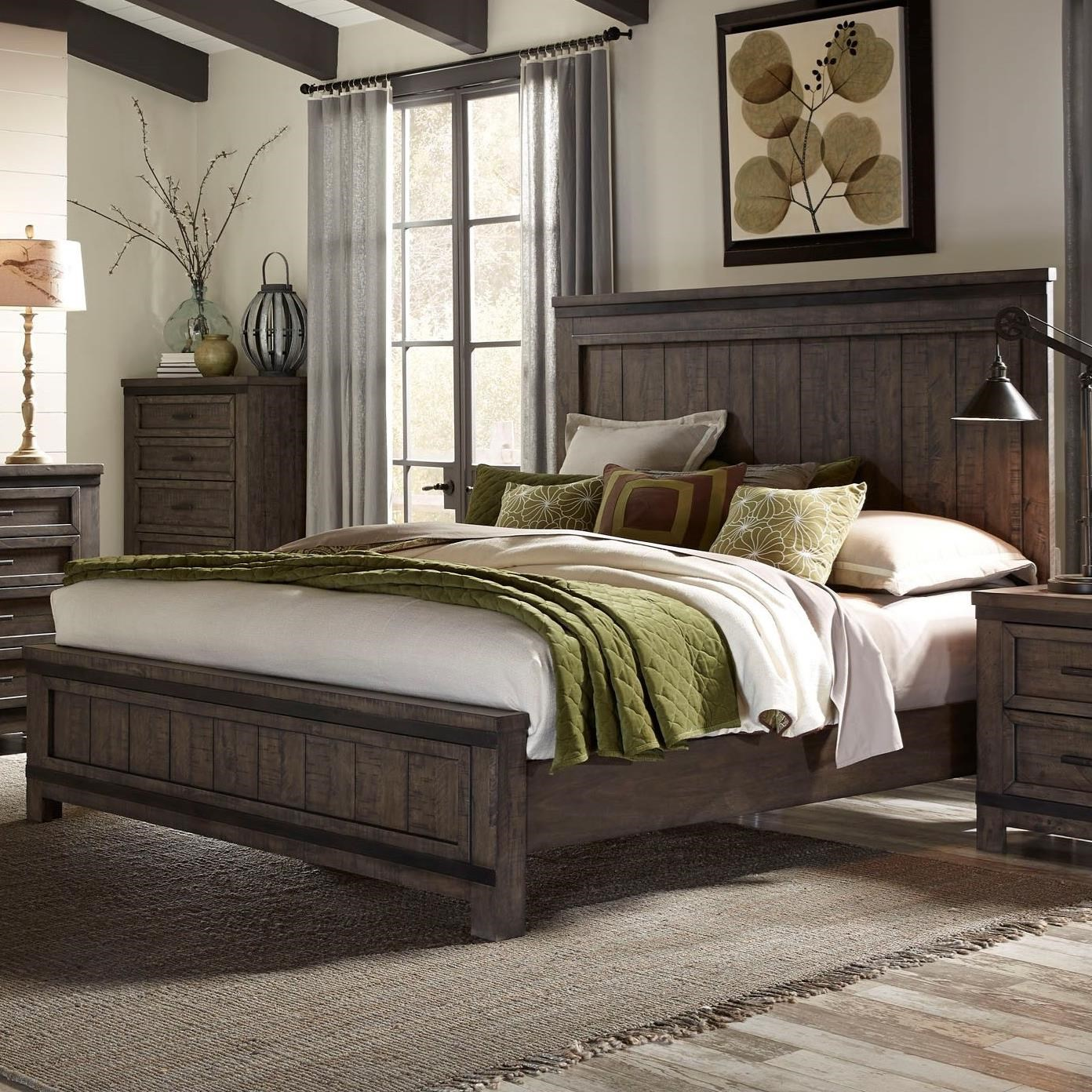 Liberty Furniture Thornwood Hills King Panel Bed - Item Number: 759-BR-KPB