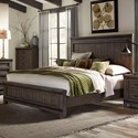 Liberty Furniture Thornwood Hills King Panel Bed - Item Number: 759-BR-KPB