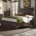 Vendor 5349 Thornwood Hills Queen Two Sided Storage Bed - Item Number: 759-BR-Q2S