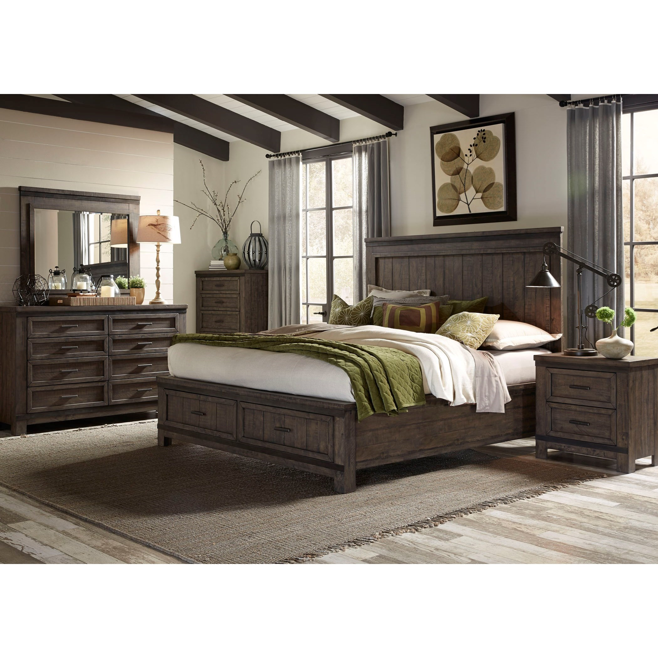 Liberty Furniture Thornwood Hills Queen Bedroom Group - Item Number: 759-BR-QSBDMCN