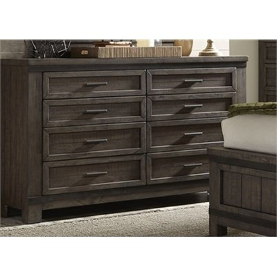 Liberty Furniture Thornwood Hills 8 Drawer Dresser - Item Number: 759-BR31