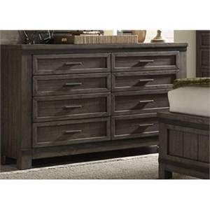 Liberty Furniture Thornwood Hills 8 Drawer Dresser