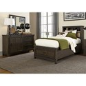 Liberty Furniture Thornwood Hills Twin Bedroom Group - Item Number: 759-YBR-TBBDM
