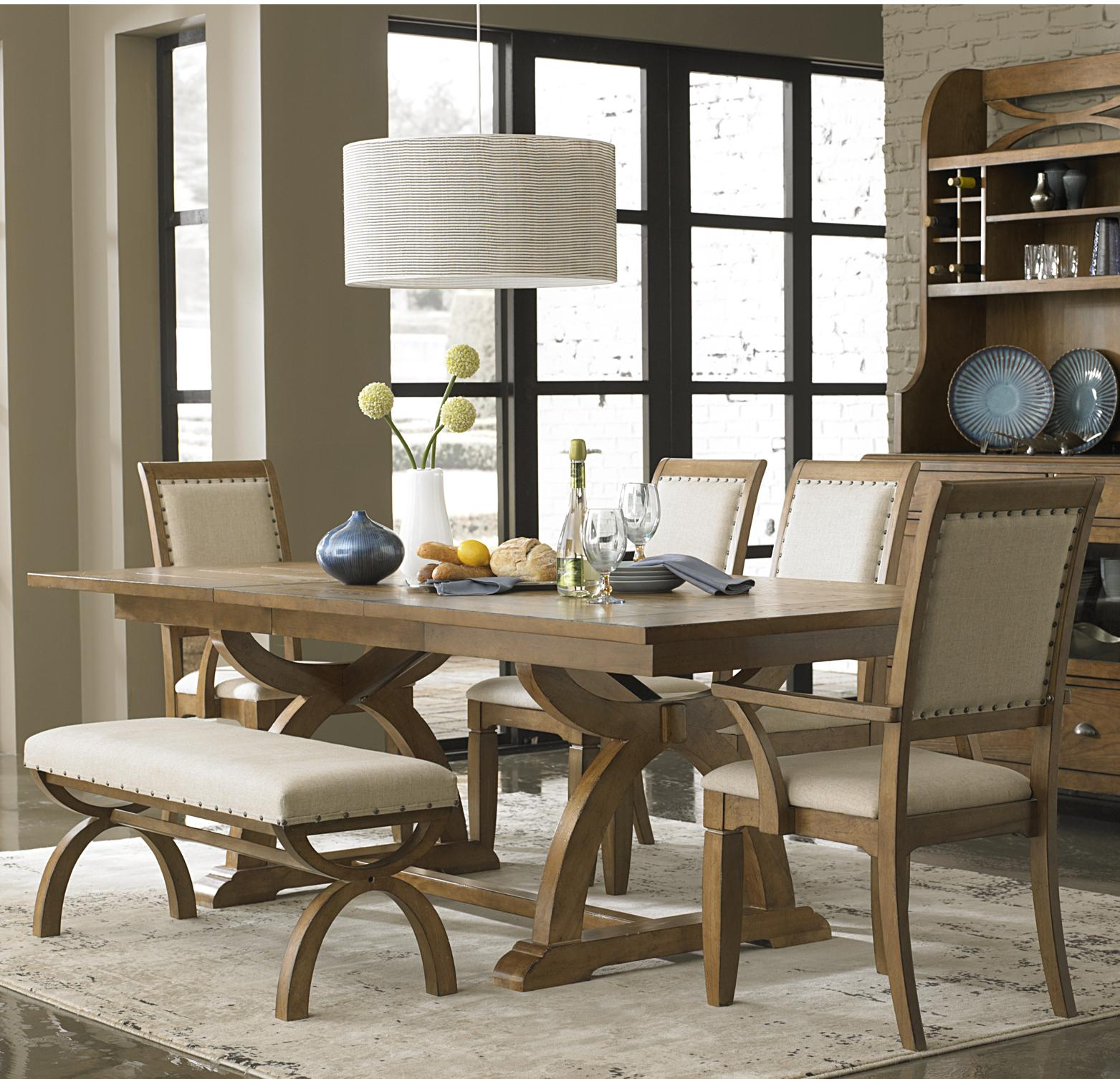 Liberty Furniture Town & Country 6 Piece Trestle Table Set  - Item Number: 603-DR-SET124