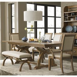 Liberty Furniture Town & Country 6 Piece Trestle Table Set