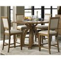 Liberty Furniture Town & Country 5 Piece Gathering Table Set  - Item Number: 603-DR-SET14