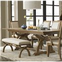 Liberty Furniture Town & Country Trestle Dining Table - Item Number: 603-P4296+T4296