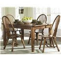 Liberty Furniture Treasures  5 Piece Table & Chair Set - Item Number: 17-T3660+C1032