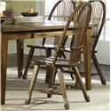 Liberty Furniture Treasures  Solid Top Leg Table & Shelf Back Side Chair Set