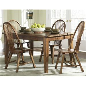 Liberty Furniture Treasures  Solid Top Leg Table