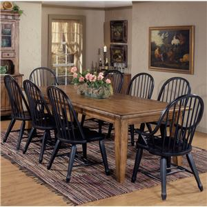 Liberty Furniture Treasures  9 Piece Leg Table & Bowback Chair Set