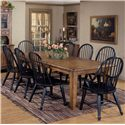 Liberty Furniture Treasures  9 Piece Leg Table & Bowback Chair Set - Item Number: 17-T4408+8xC4032