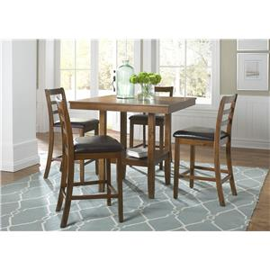 Vendor 5349 Tucson Dining II 5 Piece Gathering Table Set