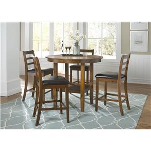 Vendor 5349 Tucson Dining II 5 Piece Pub Table Set