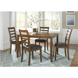 Vendor 5349 Tucson Dining II 5 Piece Rectangular Leg Table Set