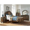 Liberty Furniture Tuscan Valley 6 Drawer Dresser and Mirror with Wood Frame