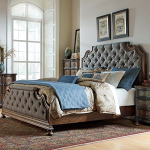 Vendor 5349 Tuscan Valley Queen Upholstered Bed