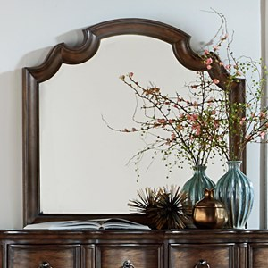 Vendor 5349 Tuscan Valley Mirror with Wood Frame