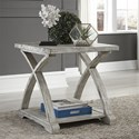 Liberty Furniture Twin Oaks End Table with Bottom Shelf - Item Number: 877-OT1020