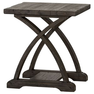 Chairside Table with Bottom Shelf
