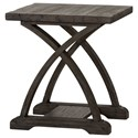 Liberty Furniture Twin Oaks Chairside Table with Bottom Shelf - Item Number: 977-OT1021