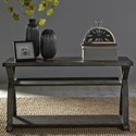 Liberty Furniture Twin Oaks Sofa Table with Two Shelves - Item Number: 977-OT1030