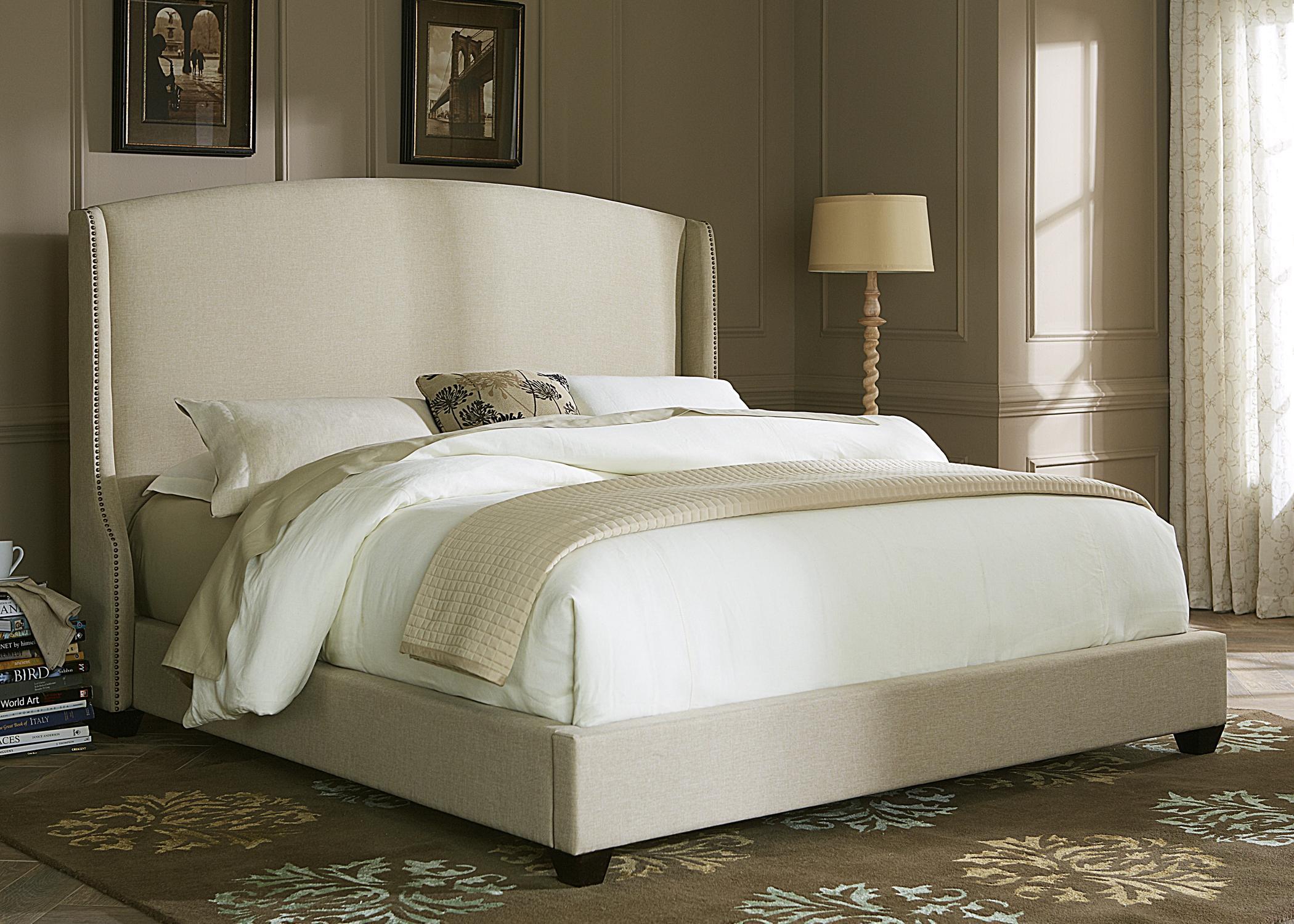 Liberty Furniture Upholstered Beds King Shelter Bed  - Item Number: 100-BR-SET165