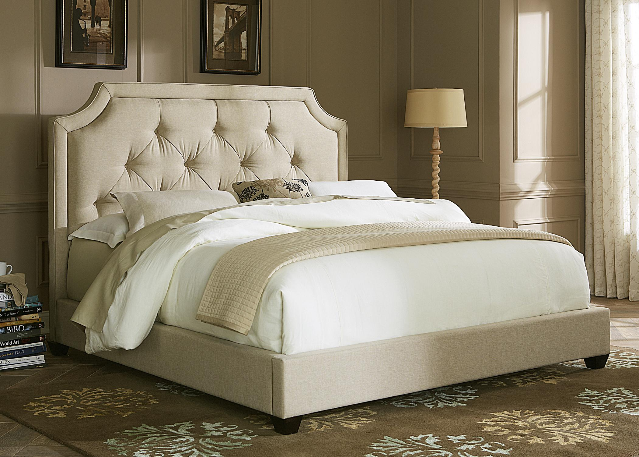 bed in queen products huntleigh riverside carved furniture upholstered item number