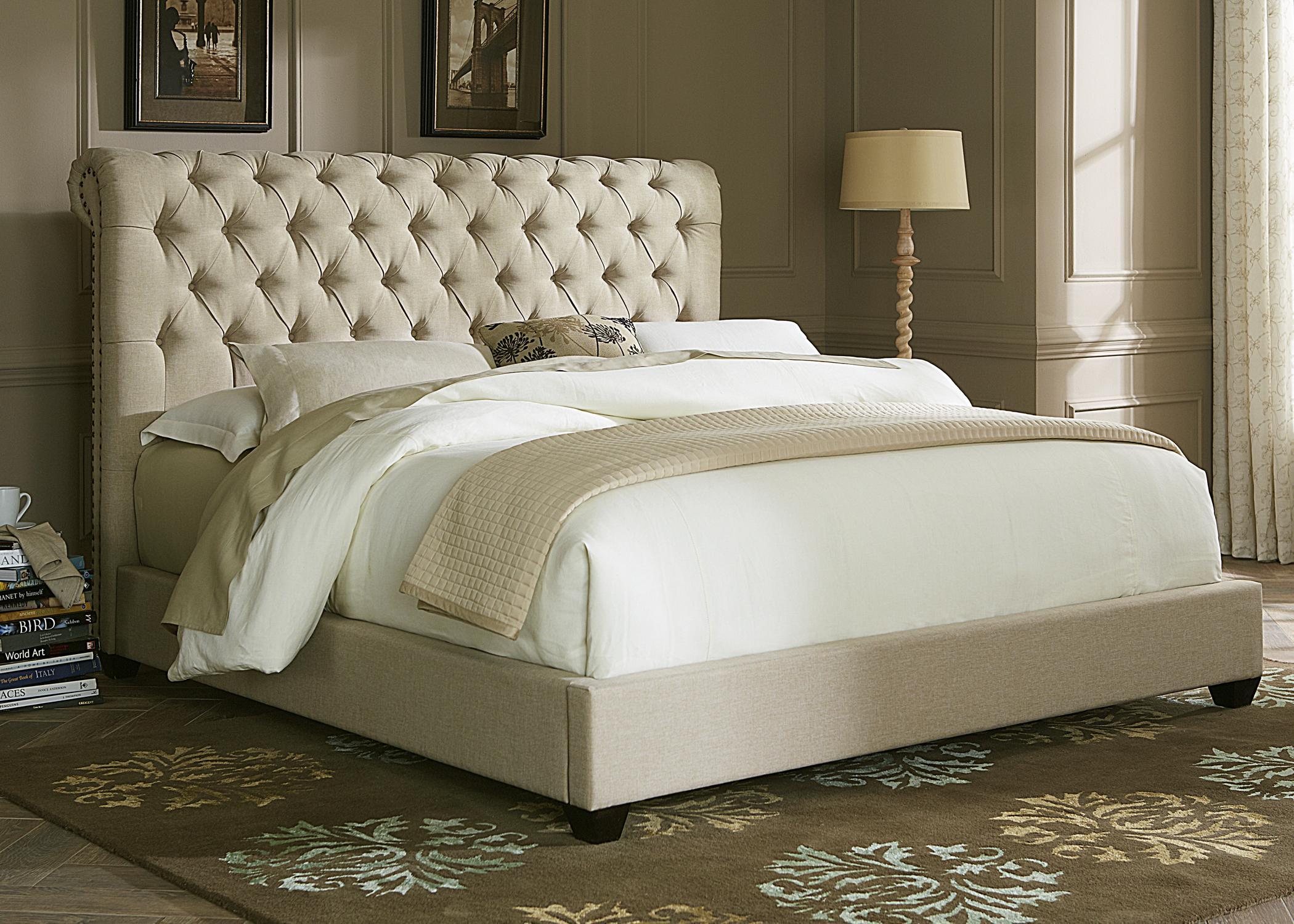 Liberty Furniture Upholstered Beds 100-BR-KSL King Sleigh Bed ...
