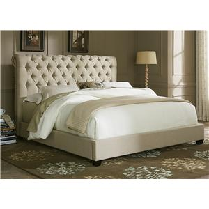 Liberty Furniture Upholstered Beds Queen Sleigh Bed