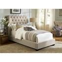 Vendor 5349 Upholstered Beds Full Upholstered Sleigh Bed  - Item Number: 100-YBR-FSL