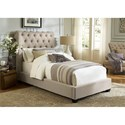 Vendor 5349 Upholstered Beds Twin Upholstered Sleigh Bed  - Item Number: 100-YBR-TSL