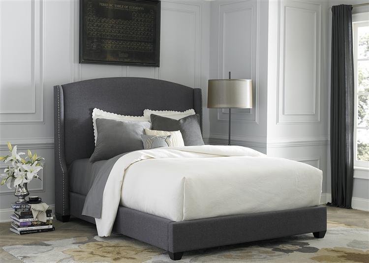 Liberty Furniture Upholstered Beds Queen Shelter Bed  - Item Number: 150-BR-QSH