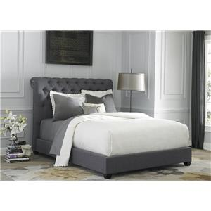 Vendor 5349 Upholstered Beds Queen Sleigh Bed