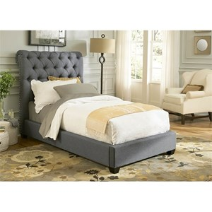 Vendor 5349 Upholstered Beds Twin Upholstered Sleigh Bed