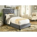 Liberty Furniture Upholstered Beds Twin Upholstered Sleigh Bed  - Item Number: 150-YBR-TSL