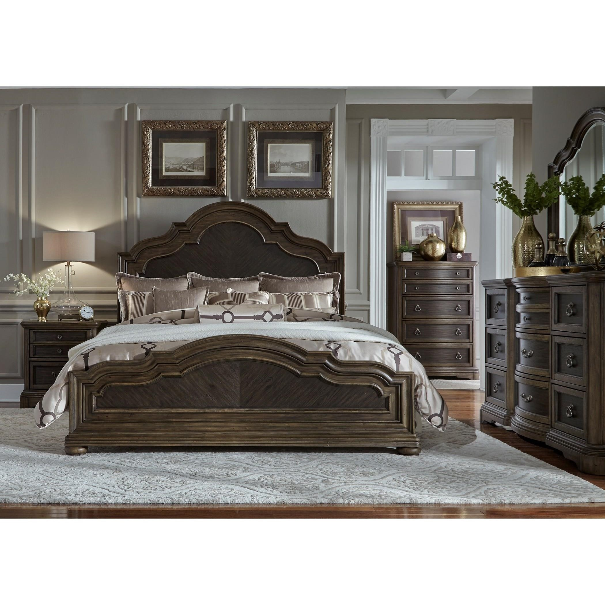 Liberty Furniture Valley Springs King Bedroom Group - Item Number: 822-BR-KPBDMC