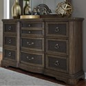 Liberty Furniture Valley Springs 9 Drawer Dresser - Item Number: 822-BR31