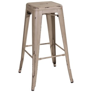 "Liberty Furniture Vintage Dining Series 30"" Metal Barstool"
