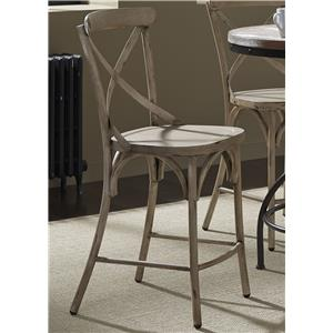 Vendor 5349 Vintage Dining Series X-Back Counter Chair