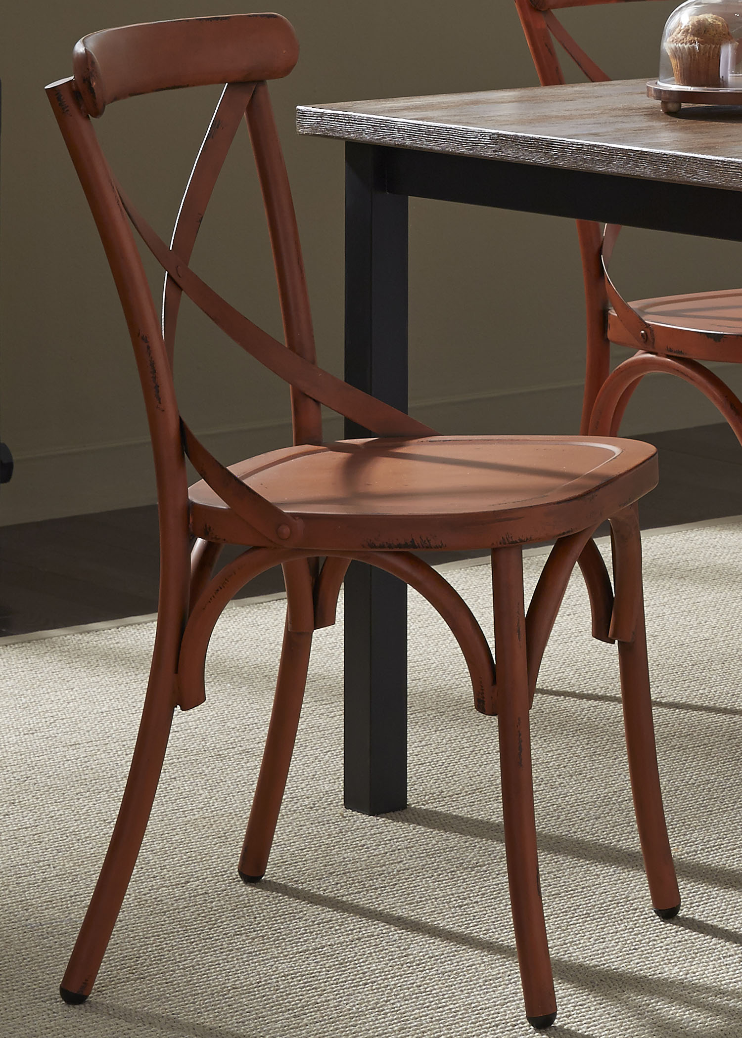 Vendor 5349 Vintage Dining Series X-Back Dining Side Chair - Item Number: 179-C3005-O