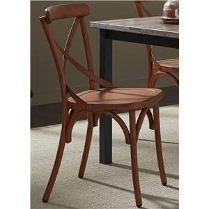 Vendor 5349 Vintage Dining Series X-Back Dining Side Chair