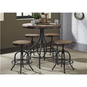 Liberty Furniture Vintage Dining Series 5-Piece Pub Table Set