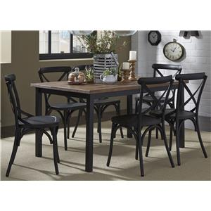 Vendor 5349 Vintage Dining Series 7-Piece Table and Chair Set